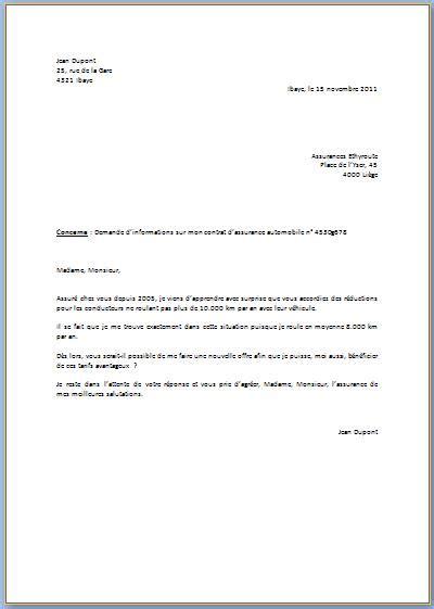 modele lettre officielle