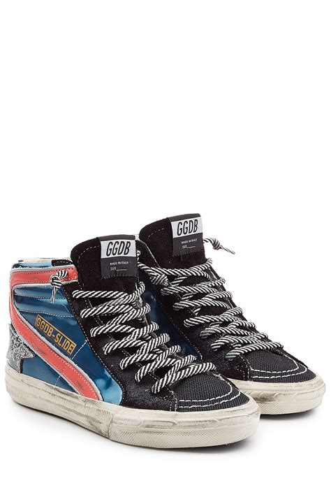 golden goose high top sneakers golden goose deluxe brand leather high top sneakers in