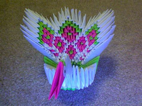 Small 3d Origami - 3d origami small peacock by darkipanda on deviantart