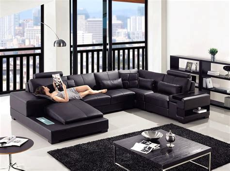 Furniture Best Leather Couch Sofa For Living Room Modern Black Sofa Living Room Design