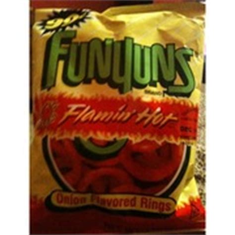 does flamin hot funyuns have pork funyuns onion flavored rings flamin hot calories