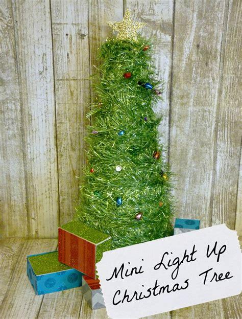 Mini Light Up Christmas Tree One Artsy Mama Mini Light Up Trees