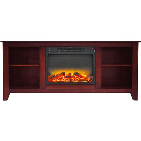 fireplace display cambridge santa monica 63 in electric fireplace and