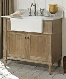 Farmhouse Vanity Bathroom Fairmont Designs 142 Fv36 Rustic Chic 36 Inch Farmhouse Vanity In Weathered Oak Bathroom