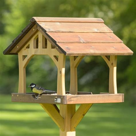 rspb country barn bird table chickadee family