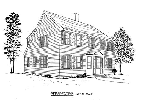 a modern new york salt box drawing on colonial and shaker salt box home plans find house plans