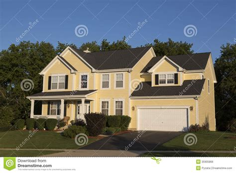 beautiful family homes detached house stock photo image of large closing
