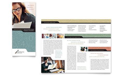 Bookkeeping Accounting Services Brochure Template Design Free Accounting Flyers Templates