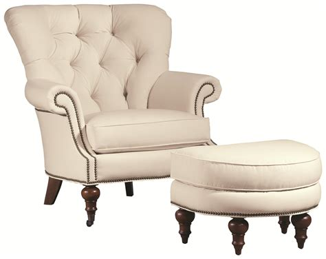 Upholstered Chair And Ottoman Sets Thomasville 174 Upholstered Chairs And Ottomans Vienna Tufted Back Chair And Ottoman Set Adcock