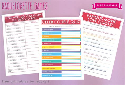 Free Printable Hen Party Decorations | free printable bachelorette games