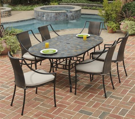 Oval Patio Table Home Styles Harbor Oval Outdoor Dining Table Patio Table