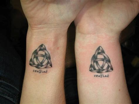 father and son matching tattoos 35 wonderful celtic on wrists