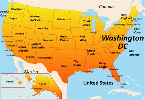 washington dc map of usa washington dc map showing attractions accommodation