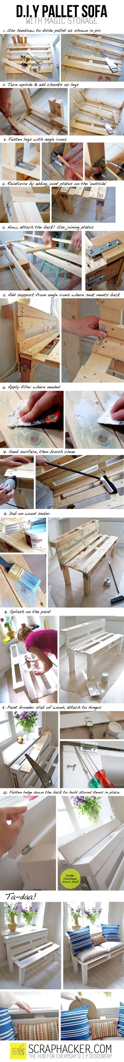 diy pallet sofa instructions diy pallet sofa tutorial pictures photos and images for