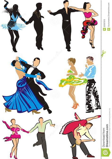 dibujos de bailes de salon baile siluetas de los bailarines del sal 243 n de baile foto