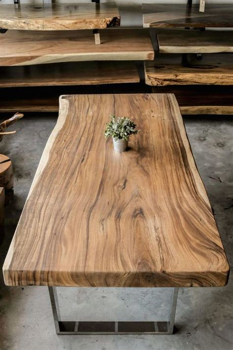 table top wood slab best 25 wood tables ideas on wood table