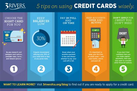 5 Ways To Use Credit Cards Wisely Credit Union Banking