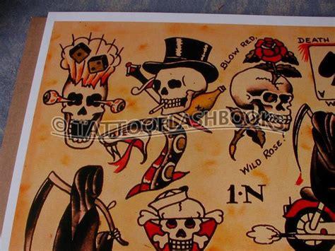 tattoo flash old school sailor jerry sailor jerry skull and top hat tattoo ideas pinterest