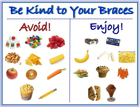 foods to avoid be to your braces chart foods to avoid enjoy when you braces find more