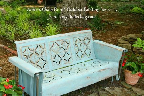 chalk paint outdoors butterbug painted vintage glider in s chalk