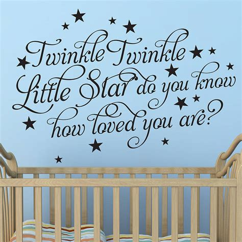 twinkle twinkle wall sticker twinkle twinkle wall stickers by parkins