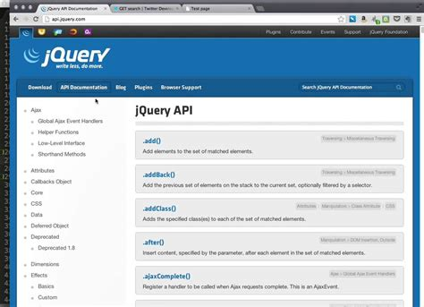 jquery tutorial for ajax jquery ajax twitter api tutorial youtube