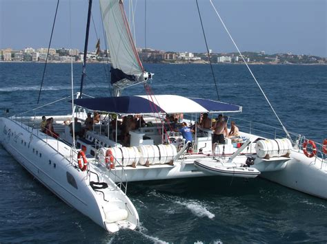 catamaran boat trip salou ferry cambrils salou 12pm creuers costa daurada