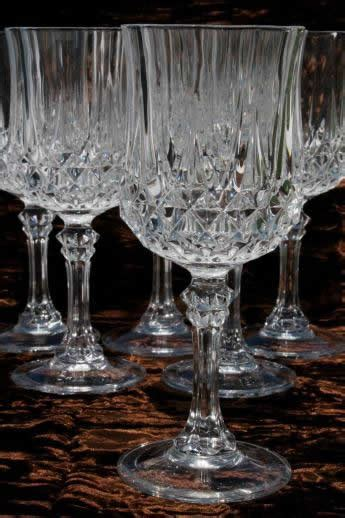 cristal darques longchamp french crystal water glasses set   goblets