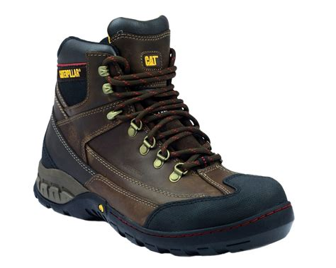 Caterpilar Boots Safety cat waterproof dynamite safety boots dynamite brown