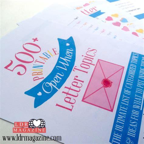 open when letter topics 500 open when letter topics ldr magazine 1523