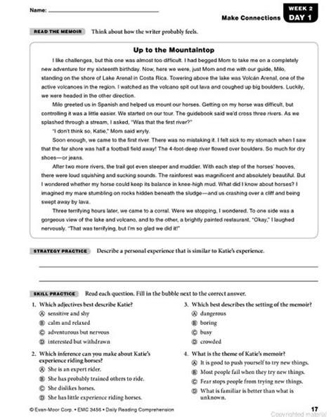 comprehension test grade 6 laptuoso