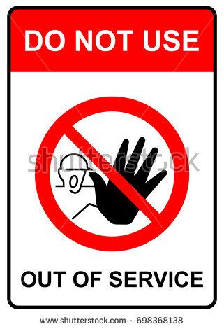 do not use bathroom signs do not use out service sign stock vector 698368138
