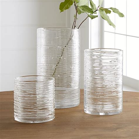 hurricane glass vase spin glass hurricane vases candle holders crate and barrel