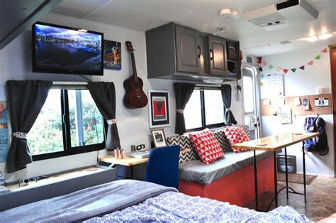 Forest River Surveyor RV Turned Into A Cozy Tiny House