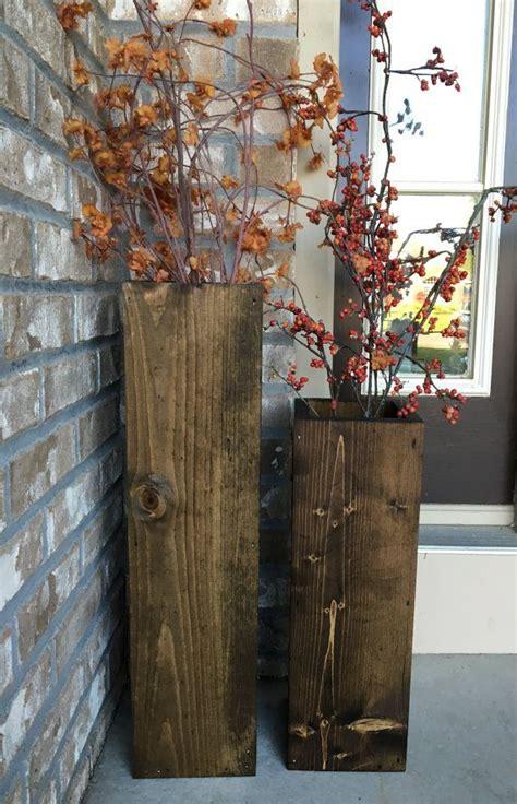 wooden vases reclaimed wood rustic floor vases set