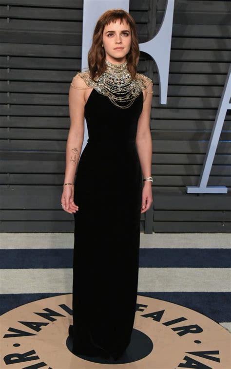 emma watson wears  vintage ralph lauren gown