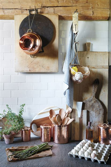 decorating a kitchen with copper copper plated canister set anthropologie