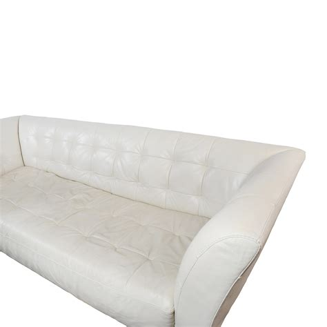 white leather tufted couch 86 off macy s macy s modern white leather tufted sofa