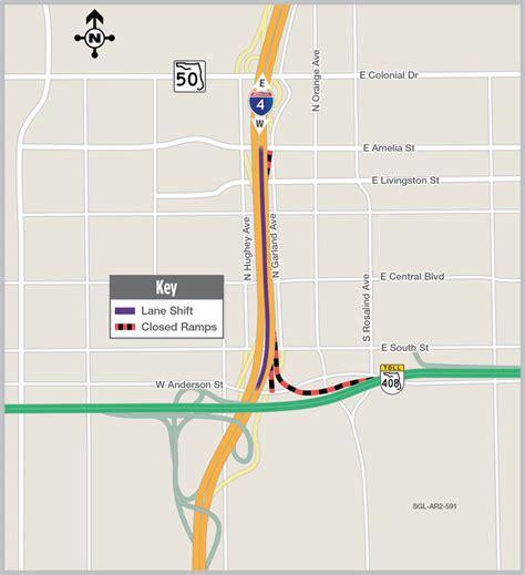 traffic pattern en espanol eastbound i 4 traffic shift in downtown orlando set for