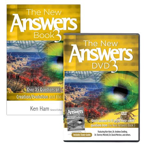 the new answers book the new answers book and dvd 3 combo