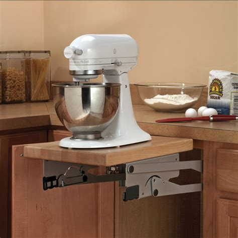 Kitchen Island Trash Knape Amp Vogt Appliance And Kitchen Mixer Lift