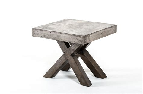 Modrest Urban Concrete Square End Table   End Tables