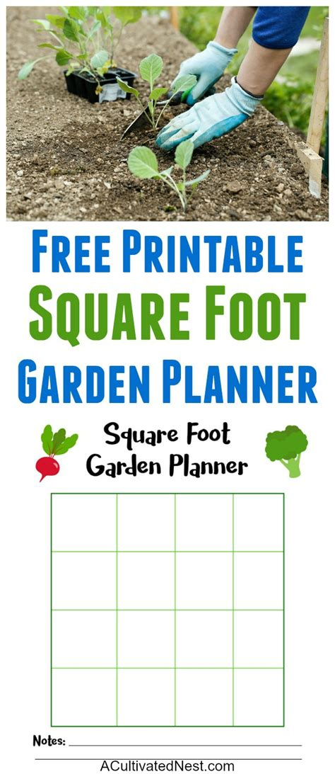 printable square foot garden planner free square foot garden planner printable a cultivated nest