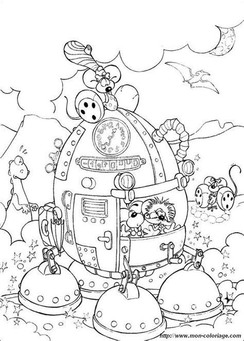 Coloriage de Diddl, dessin la machine a explorer le temps