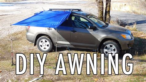 diy cer awning easy diy awning for vandwelling car cing and suv rving youtube