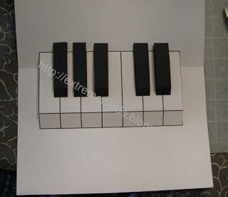 piano keyboard pop up card template cards and papercrafting easy piano pop up card