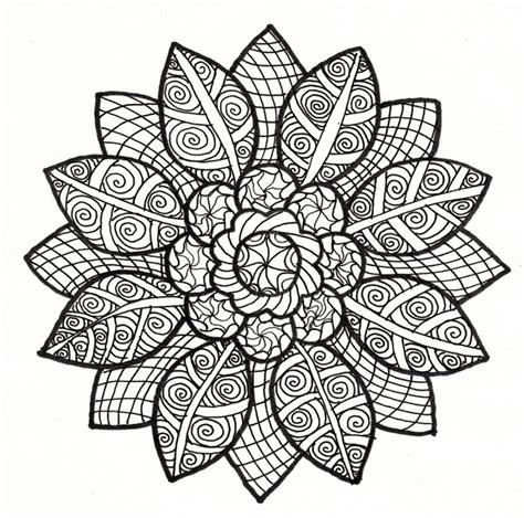 abstract sunflower coloring page kolorowanki dla dorosłych za darmo do pobrania i