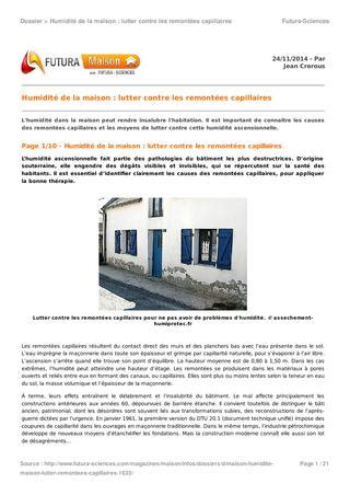 Lutter Contre Humidite Des Murs 2863 by 1635 Humidite Maison Lutter Remontees Capillaires By
