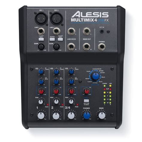 Mixer Fx Usb alesis multimix 4 usb mixer with fx at gear4music