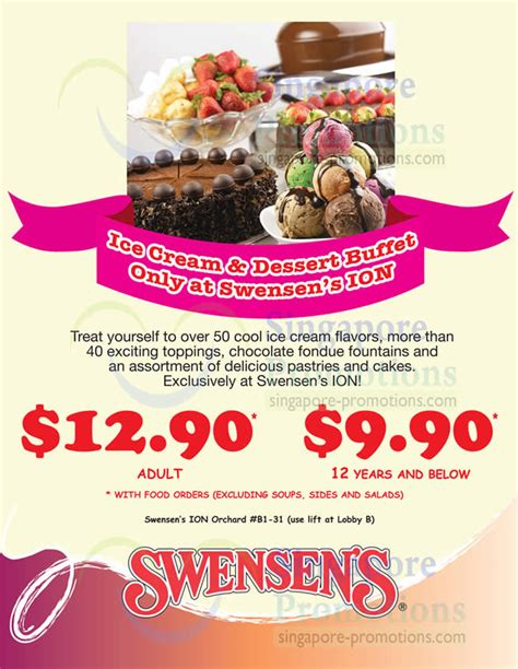 flavors buffet coupon swensen s all you can eat dessert buffet promo ion orchard 4 dec 2012